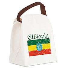Ethiopian flag Canvas Lunch Bag