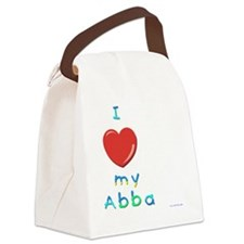 I Love My Abba Canvas Lunch Bag