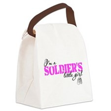Cute Army daughter Canvas Lunch Bag