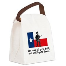 Crockett Quote Canvas Lunch Bag