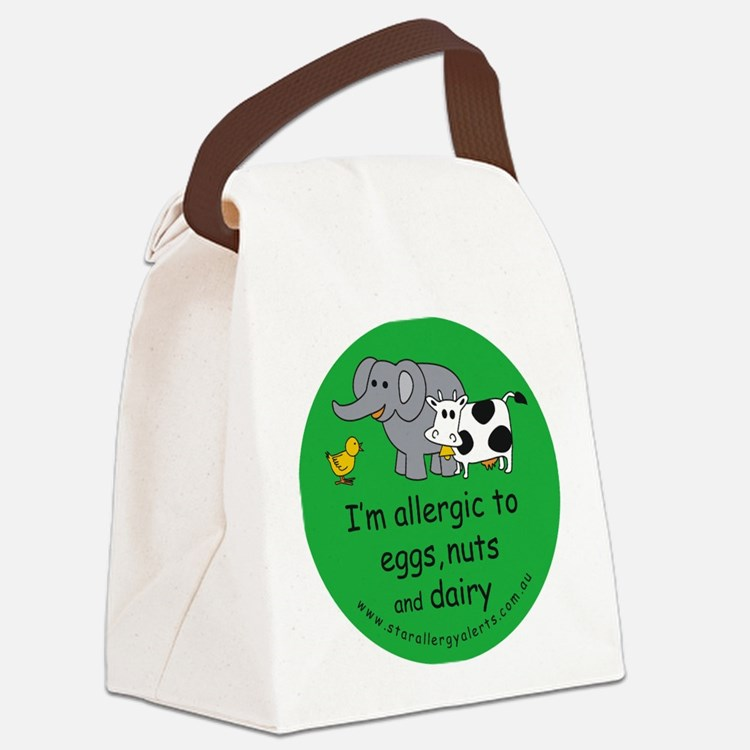 Eggs, nuts and dairy Canvas Lunch Bag