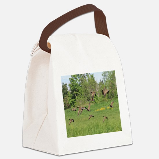 Geese in Flight Canvas Lunch Bag