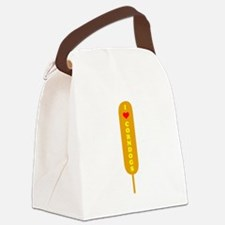 I Love Corndogs Canvas Lunch Bag