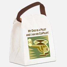 Dad's Co-Pilot Helicopter Canvas Lunch Bag