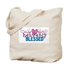 Heavenly Blessed Heart Scrolls Tote Bag