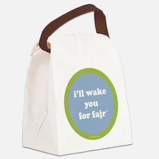 Fajr Canvas Lunch Bag (light blue + green)