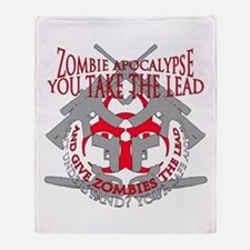 Zombie apocalypse Throw Blanket