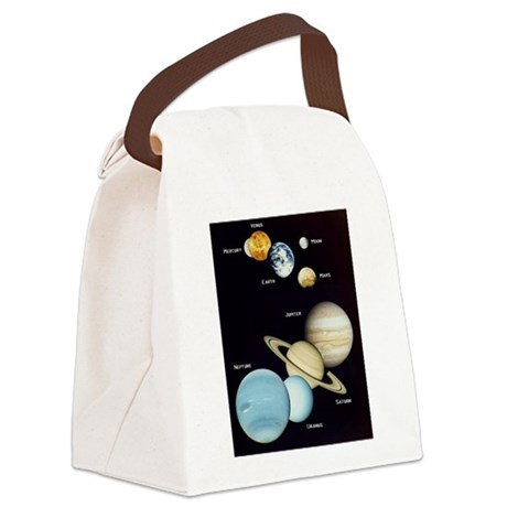 Planets 3 Canvas Lunch Bag
