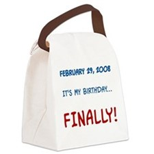My Birthday... FINALLY Canvas Lunch Bag