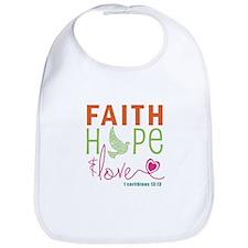 Faith Hope & Love Bib