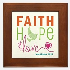 Faith Hope & Love Framed Tile