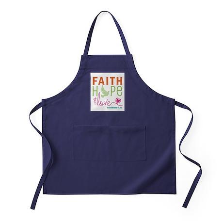 Faith Hope & Love Apron (dark)