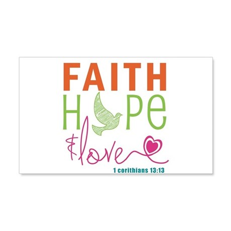 Faith Hope & Love 20x12 Wall Decal