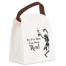 Time Flies/Having Rum Canvas Lunch Bag