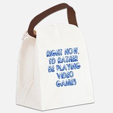Play Video Games Canvas Lunch Bag