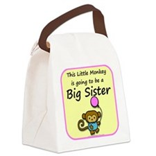Little monkey is going to be Canvas Lunch Bag