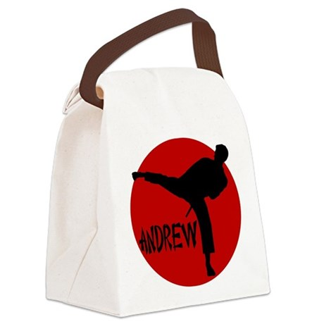 Andrew Martial Arts Canvas Lunch Bag