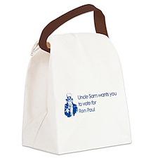 Uncle Sam: Ron Paul Canvas Lunch Bag