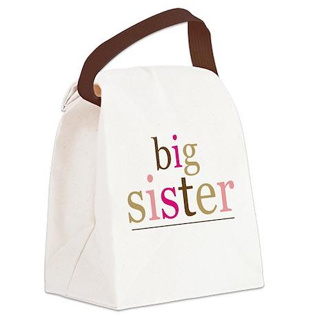 Big Sis (fun) Canvas Lunch Bag