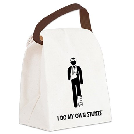 Broken Leg, Arm My Own Stunts Canvas Lunch Bag