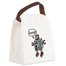 """Beep"" Canvas Lunch Bag"