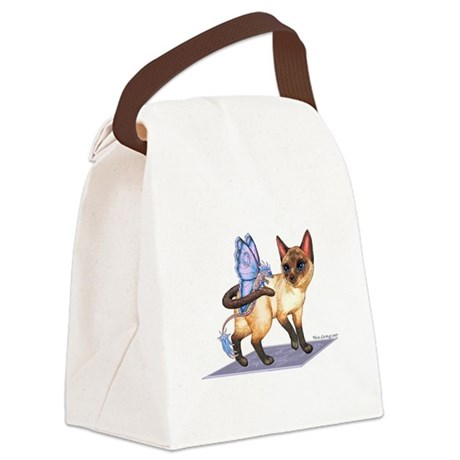 Tag Along Cat Canvas Lunch Bag