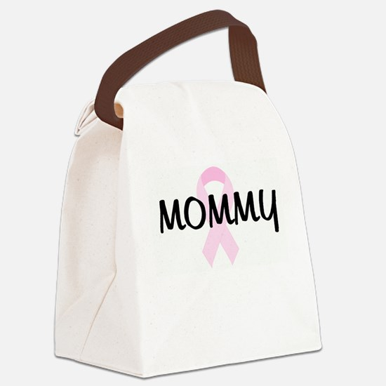 MOMMY pink ribbon Canvas Lunch Bag