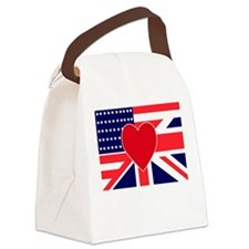 USA & UK Love Canvas Lunch Bag