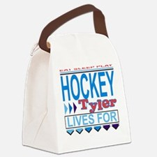 Tyler Lives for Hockey Canvas Lunch Bag
