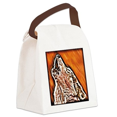 Wolf Howl Canvas Lunch Bag