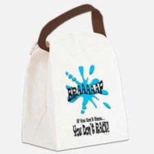 Braaaaap! Blue Canvas Lunch Bag