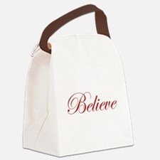 Red Believe Canvas Lunch Bag