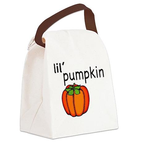 Little Pumpkin Thanksgiving Canvas Lunch Bag