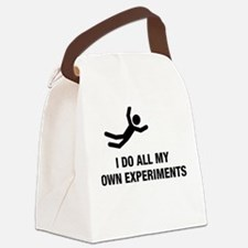 i do all my own experiments Canvas Lunch Bag