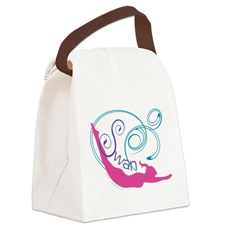 Pilates Swan Canvas Lunch Bag