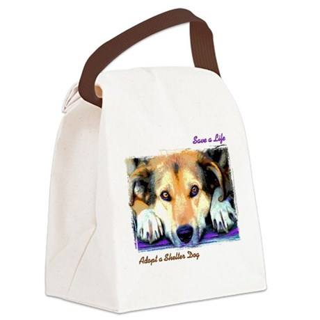 Save a Life - Adopt a Shelter Canvas Lunch Bag