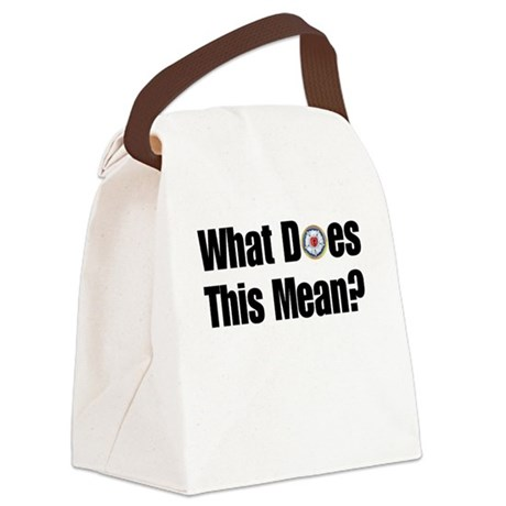 What does this mean? Canvas Lunch Bag