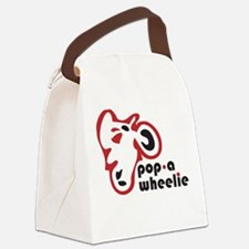 pop a wheelie red motorcycle Canvas Lunch Bag