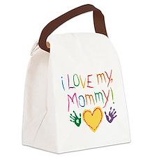 i luv mom Canvas Lunch Bag