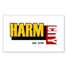 Harm City Rectangle Decal