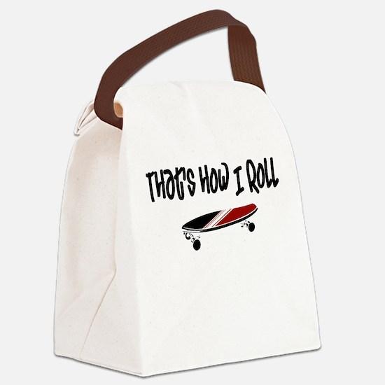 Skateboard Roll Canvas Lunch Bag
