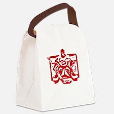 Hockey goalie red Canvas Lunch Bag