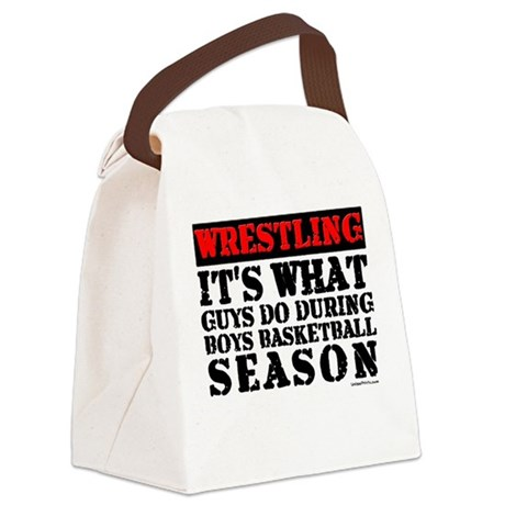 WRESTLING (GUYS DO DURING BAS Canvas Lunch Bag