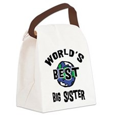 World's Best Big Sister Canvas Lunch Bag