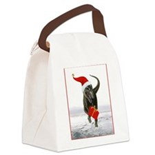 'Sanatsaurus' T-Rex ~ Canvas Lunch Bag