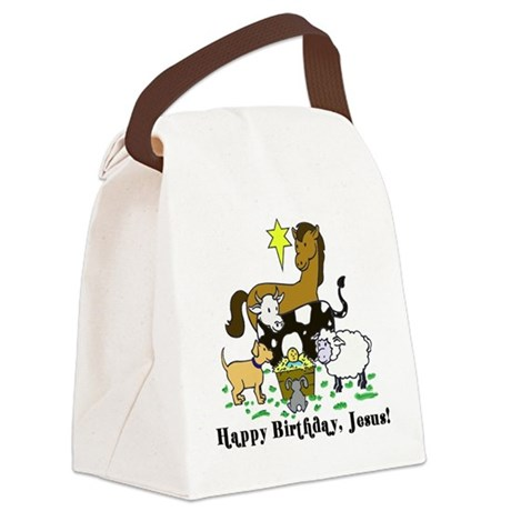Jesus Birthday Canvas Lunch Bag