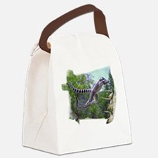 Leaping Lemur Canvas Lunch Bag