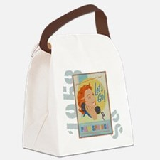 Let's Go Canvas Lunch Bag