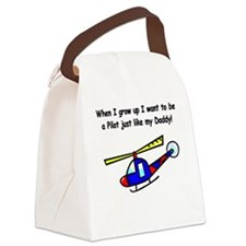 Helicopter Pilot Daddy Canvas Lunch Bag