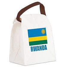 Rwanda Flag Canvas Lunch Bag
